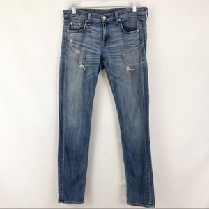 Rag & Bone The Dre Jeans Destroyed Skinny Size 26